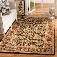 Safavieh Handmade Classic Dark Olive/ Red Wool Rug - 9'6 x 13'6