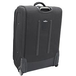 Kenneth Cole Reaction Front Row Charcoal Black 25-inch Expandable Wheeled Upright Luggage - Thumbnail 1
