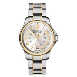 Victorinox Swiss Army Men's Officer's Two-Tone Dial Watch (Option: Silver)|https://ak1.ostkcdn.com/images/products/6722387/79/731/Victorinox-Swiss-Army-Mens-Officers-Two-Tone-Dial-Watch-P14270762.jpg?impolicy=medium