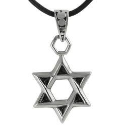 Journee Collection Stainless Steel Star of David Necklace|https://ak1.ostkcdn.com/images/products/6722404/79/731/Journee-Collection-Stainless-Steel-Star-of-David-Necklace-P14270781.jpg?impolicy=medium