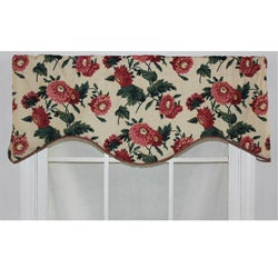 RLF Home Butter Cotton 17-inch Ennis Cornice Window Valance