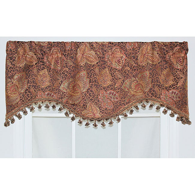 RLF Home Walnut 17-inch Caldwell Cornice Window Valance - Thumbnail 0