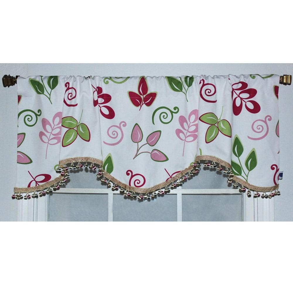 RLF Home Spring 17-inch Gracious Leaves Cornice Window Valance