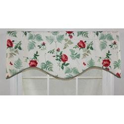 RFL Home 'Elizabeth Cornice' Red Floral Valance