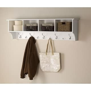 Winslow White Hanging 60-inch Wide Entryway Shelf|https://ak1.ostkcdn.com/images/products/6722431/P14270792.jpg?impolicy=medium