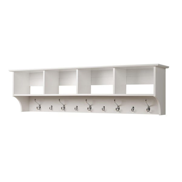 Winslow White Hanging 60 Inch Wide Entryway Shelf Free