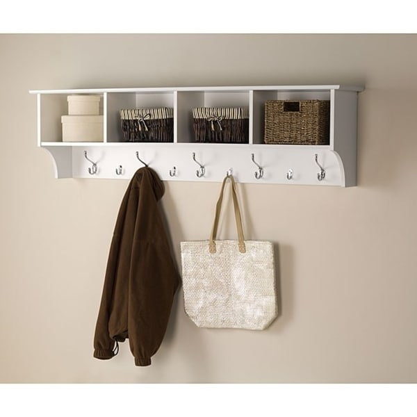 Shop Winslow White Hanging 60 Inch Wide Entryway Shelf Free