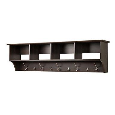 Shop Everett Espresso 60 Inch Wide Hanging Entryway Shelf Free