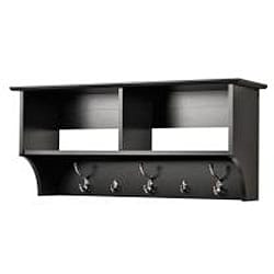 Broadway Black 36-inch Wide Hanging Entryway Shelf - Thumbnail 2