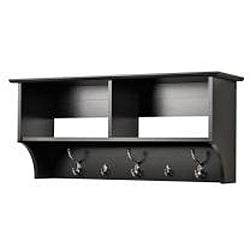 Broadway Black 36-inch Wide Hanging Entryway Shelf