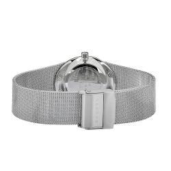 Skagen Women's Oval Case White Dial Stainless Steel Watch - Thumbnail 1