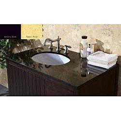 Shop Granite Top 36 inch Single Sink Bathroom Vanity ...