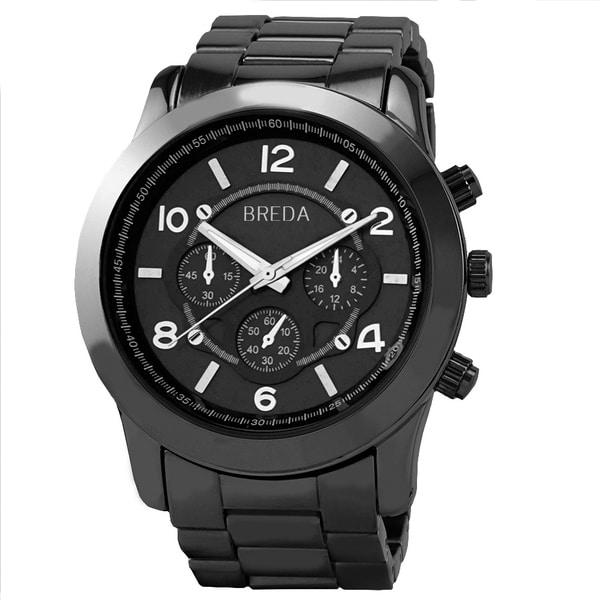 Breda Women's 'Jordan' Gunmetal Watch