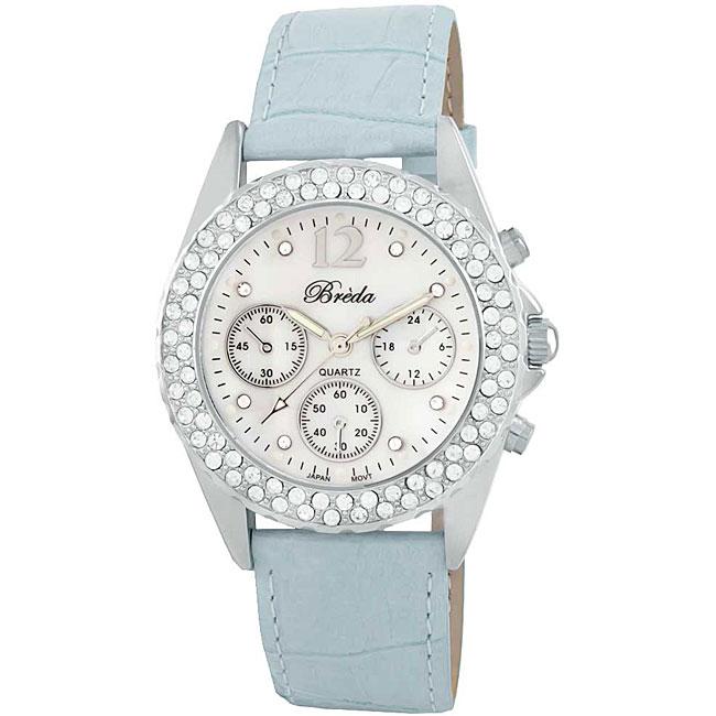 Breda Women's 'Victoria' Leather Strap Watch