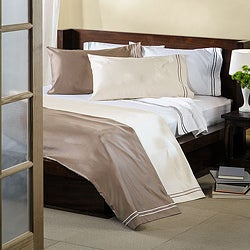 Superior 100-percent Premium Long-staple Combed Cotton 1600-Thread-Count Oversized Solid Sheet Set