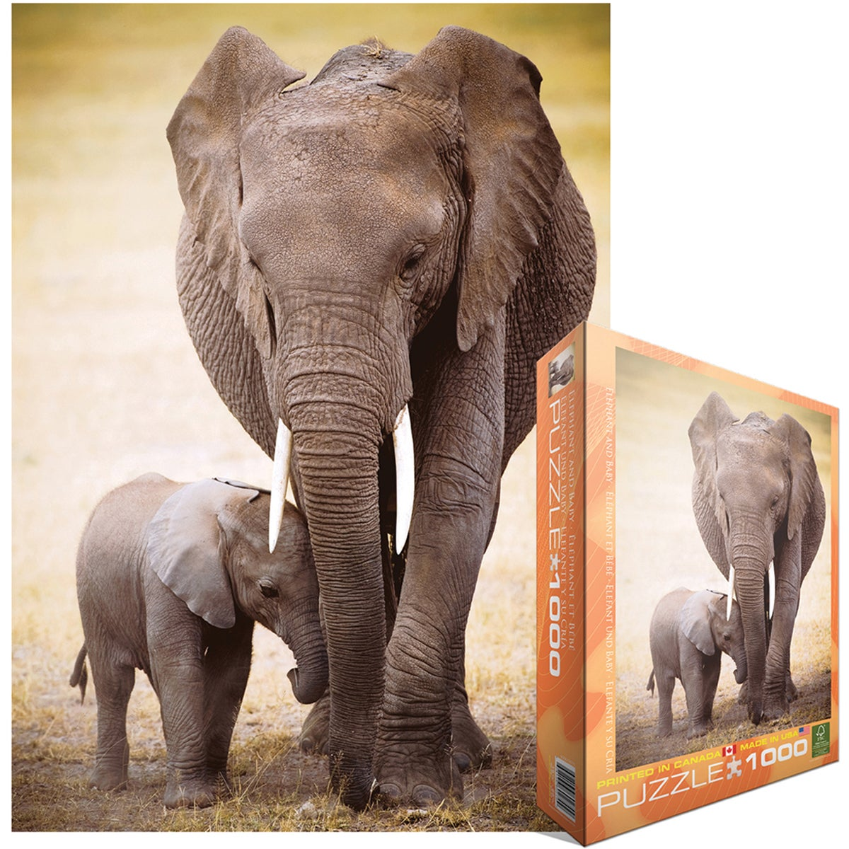 Jigsaw Puzzle 1000 Pieces -Elephant And Baby