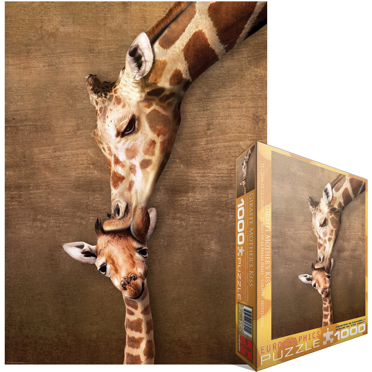 Jigsaw Puzzle 1000 Pieces -Giraffe Mother's Kiss