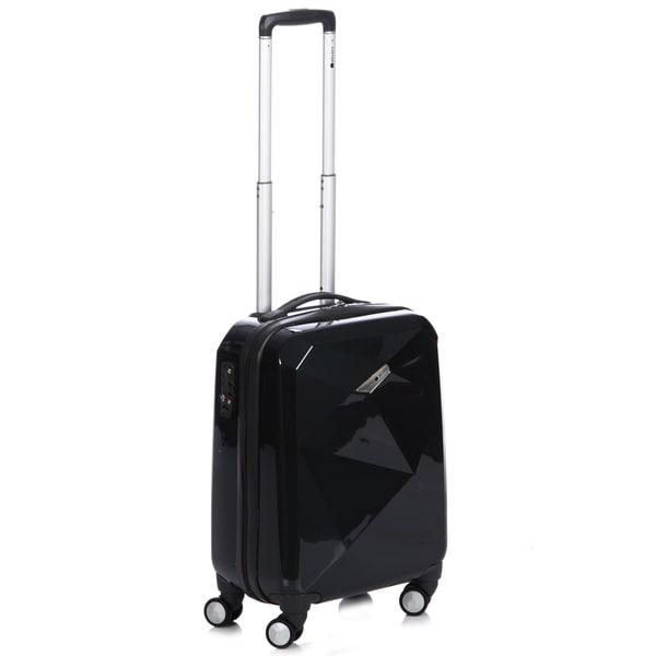 Delsey Helium Karat 22-inch Black Carry-on Hardside Spinner Upright