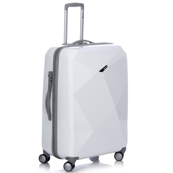 Delsey Helium Karat 29-inch White Hardside Spinner Upright