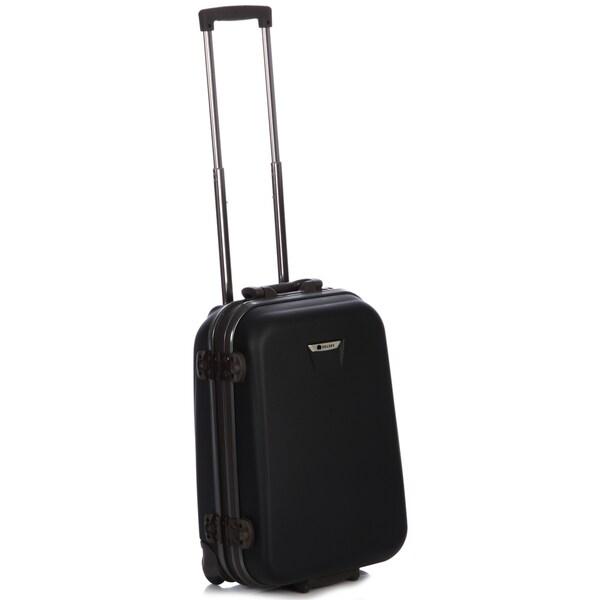 Delsey Meridian Black 21-inch Carry-on Hardside Suiter Upright
