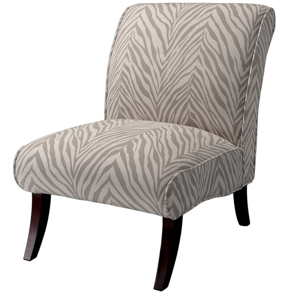 Janet Grey Zebra Fabric Accent Chair by Christopher Knight Home