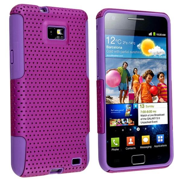 Purple Skin/ Mesh Hybrid Case for Samsung Galaxy S II i9100