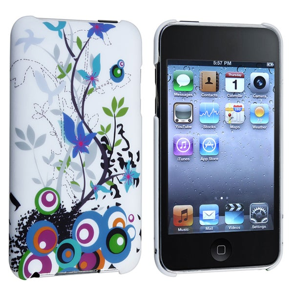 INSTEN Spring Flower Rubber Coated iPod Case Cover for Apple iPod Touch Generation 2/ 3