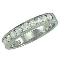 14k White Gold 1/2ct TDW Diamond Wedding Band (G, SI1)
