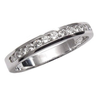 14k White Gold 1/4ct TDW Diamond Wedding Band (G, SI1)
