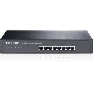 TP-LINK TL-SG1008 8-Port 10/100/1000Mbps Gigabit 13-inch Rackmountabl