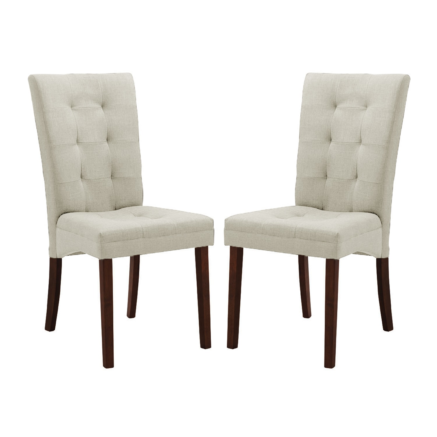 Baxton studio anne beige fabric modern dining chair set for 2 dining room chairs