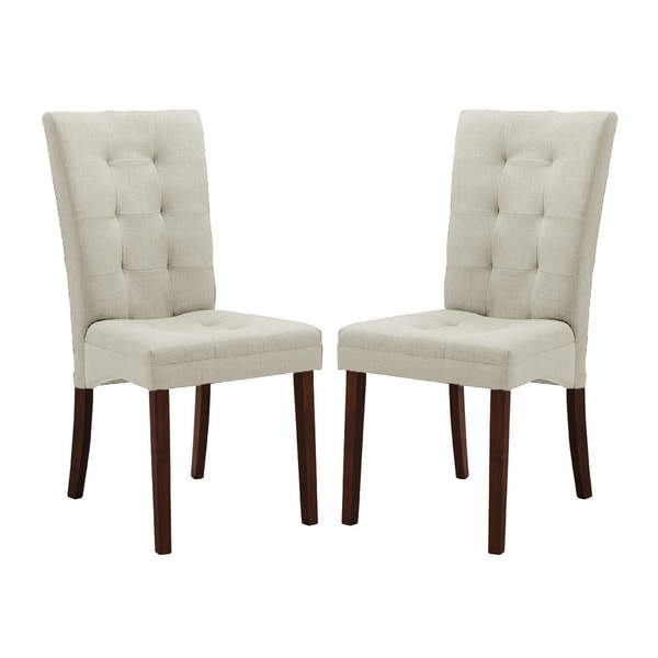 Baxton Studio Anne Beige Fabric Modern Dining Chair (Set of 2)