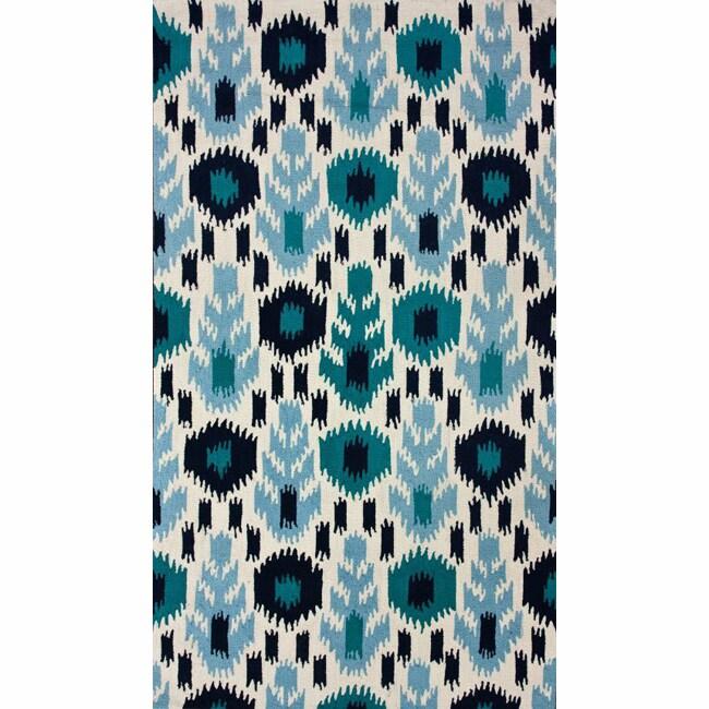 nuLOOM Handmade Modern Ikat Ivory Rug (7'6 x 9'6)