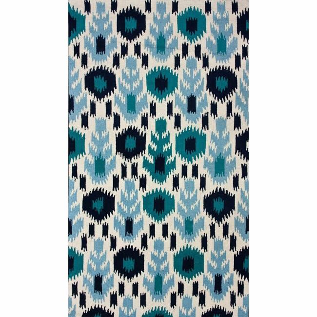 nuLOOM Handmade Modern Ikat Ivory Rug (5' x 8')