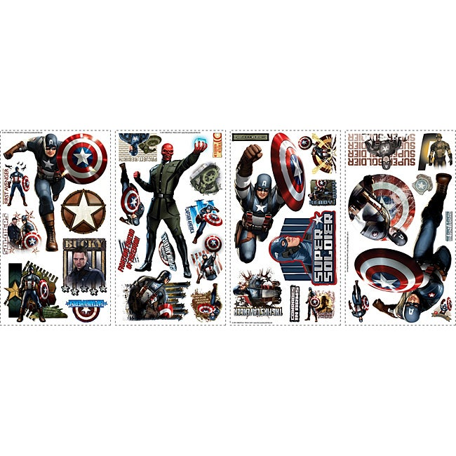 RoomMates Captain America Peel and Stick Wall Decals