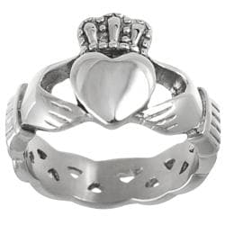 Vance Co. Stainless Steel Men's Celtic Claddagh Ring