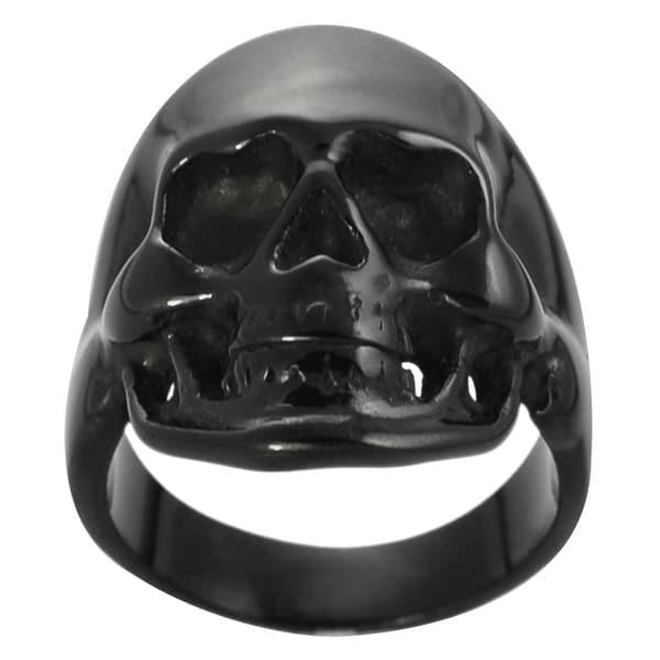 Vance Co. Black Stainless Steel Men's Skull Ring