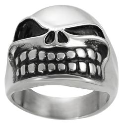 Vance Co. Stainless Steel Men's Jack Pumpkin King Skull Ring