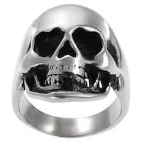 Vance Co. Stainless Steel Men's Large Skull Ring