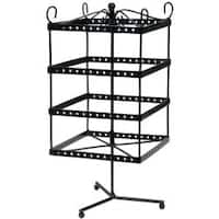"Black Metal Jewelry Display Shelf 6""X6""X13"""