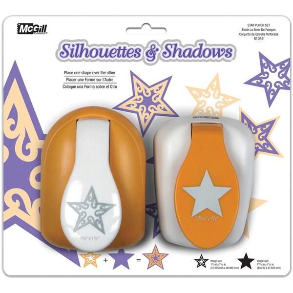 Silhouettes & Shadows Lever Punch Set 2/Pkg-Star