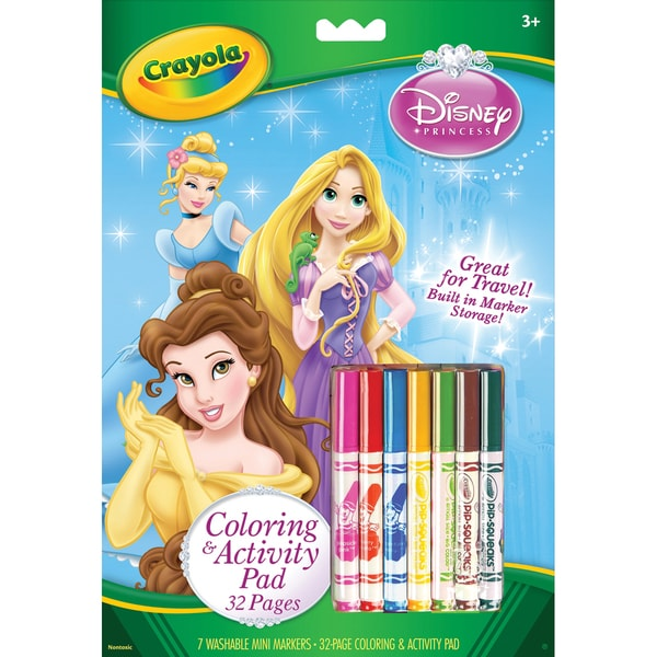 Coloring & Activity Pad With Markers-Disney Princesses