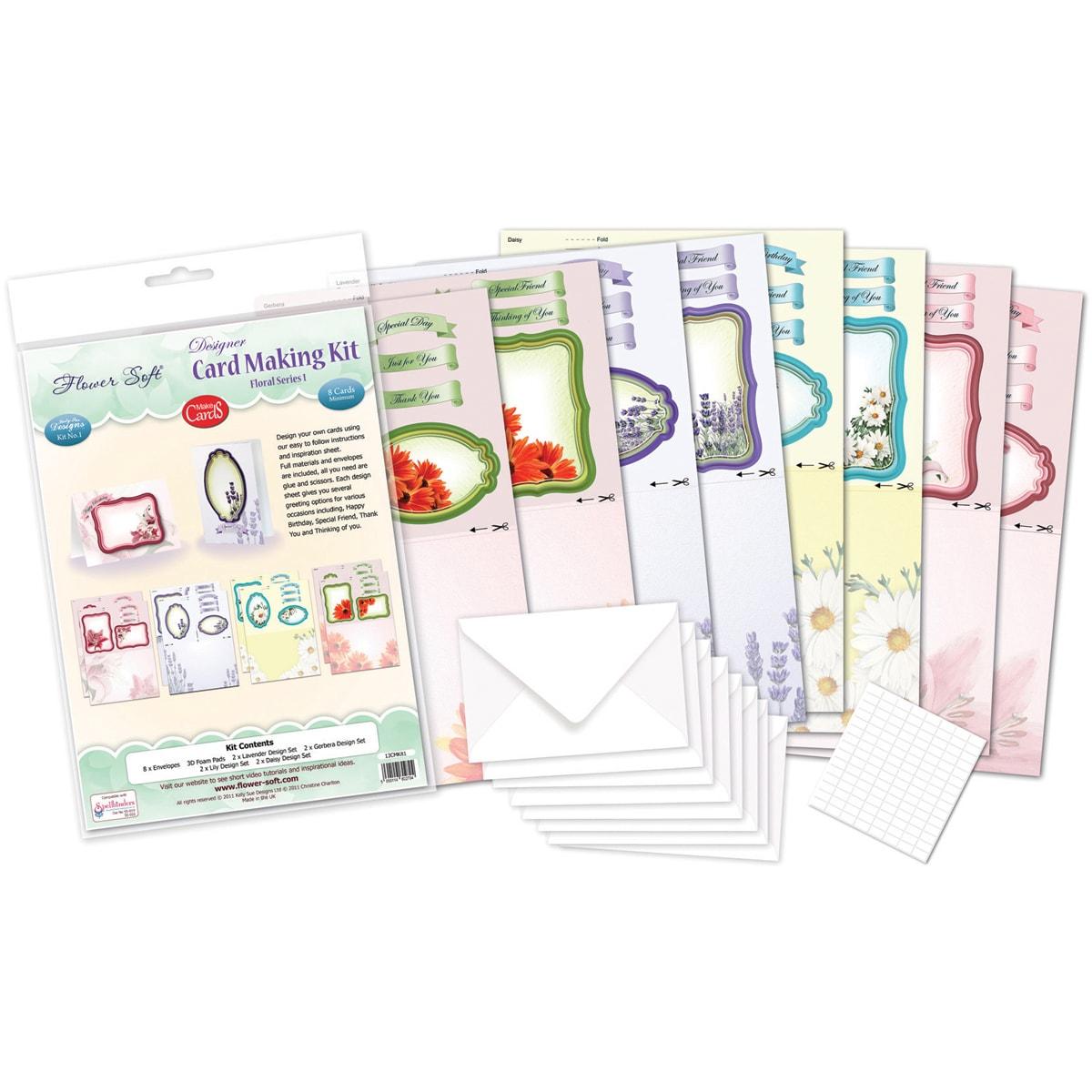 Shop Flower Soft Designer Card Making Kit Floral Series 1
