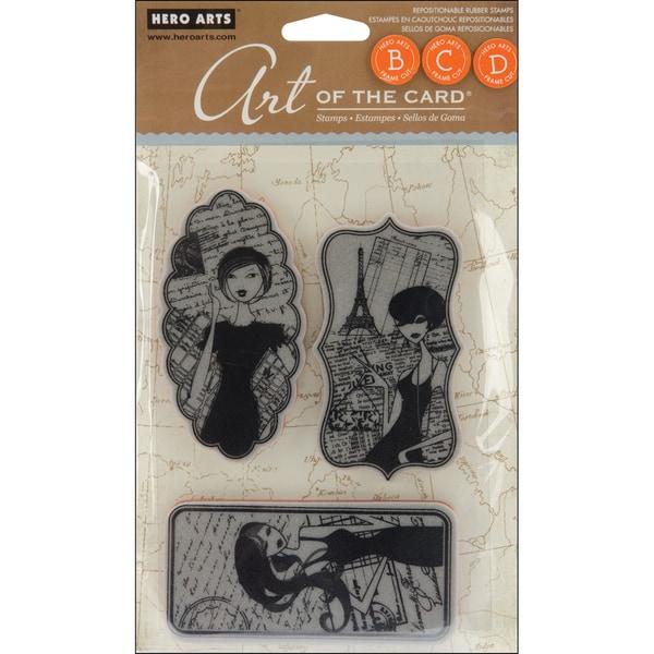 Hero Arts Cling Stamps-Enchante