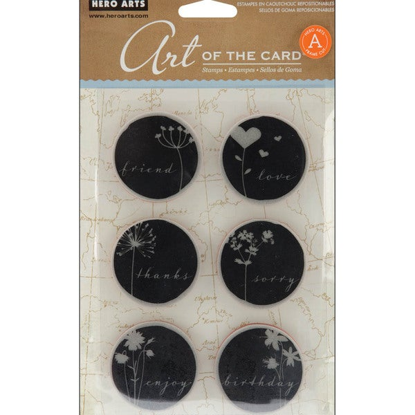 Hero Arts Cling Stamps-Untitled Word Shadow