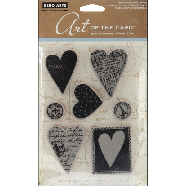 Hero Arts Cling Stamps-Untitled Heart