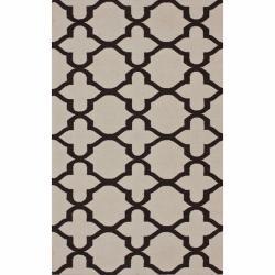 nuLOOM Handmade Flatweave Moroccan Trellis Natural Wool Rug (7'6 x 9'6)