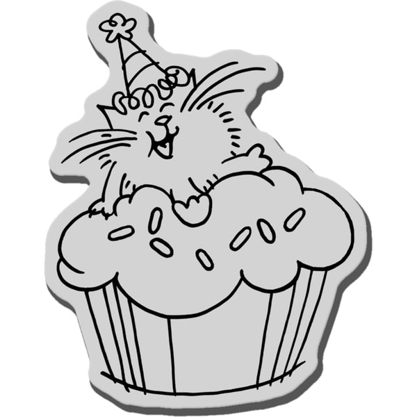Stampendous Cling Rubber Stamp-Icing Fluffles