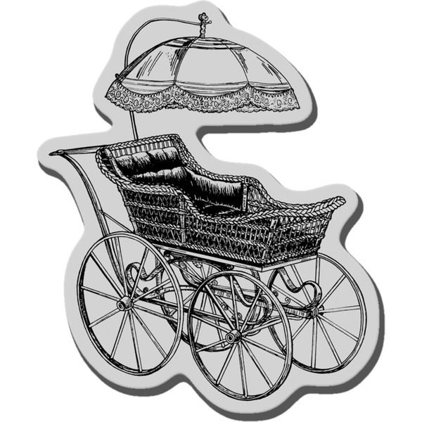 Stampendous Cling Rubber Stamp-Baby Buggy