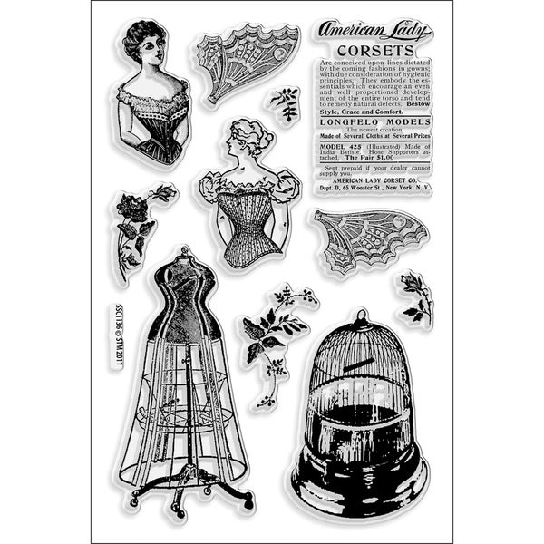Stampendous Perfectly Clear Stamps -Corset Ladies